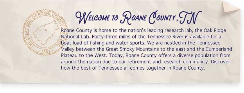 Welcome To Roane County, TN